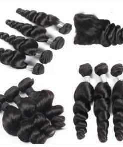 3 Bundles Loose Wave Hair and Closure 100 Virgin Human Hair 4-min