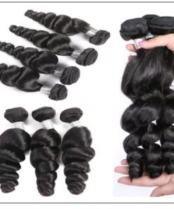 3 Bundles Loose Wave Hair and Closure 100 Virgin Human Hair img 2-min