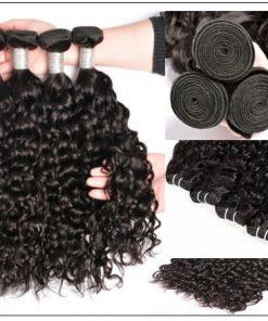 3 Bundles Malaysian Water Wave Human Hair With Closure IMG 2-min