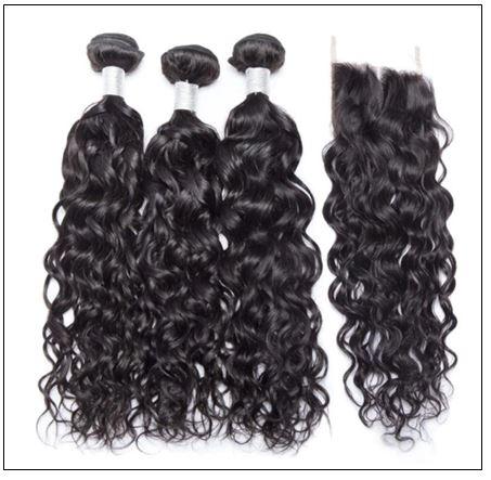 3 Bundles Malaysian Water Wave Human Hair With Closure IMG 4-min