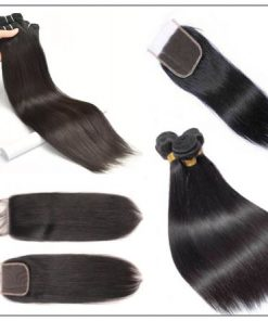 3 Bundles Peruvian Straight Hair Deals with Lace closure img 3-min