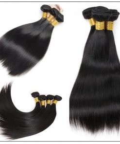 3 Bundles Peruvian Straight Hair Deals with Lace closure img 4-min