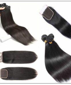 3 Bundles Peruvian Straight Hair Weft With Closure img 2-min