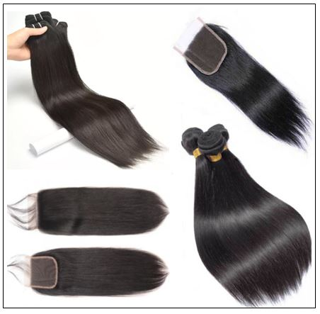 3 Bundles Peruvian Straight Hair Weft With Closure img 2-min