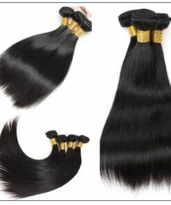 3 Bundles Peruvian Straight Hair Weft With Closure img 3-min