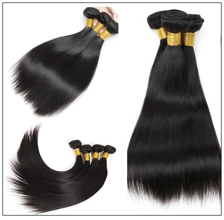 3 Bundles Peruvian Straight Hair Weft With Closure img 3-min