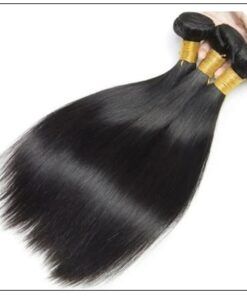 3 Bundles Peruvian Straight Hair Weft With Closure img 4-min