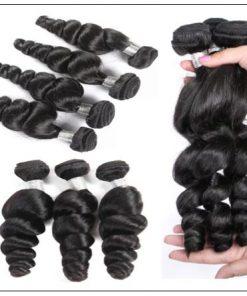 3 Bundles Premium Virgin Hair Loose Wave With Lace Closure img 3-min