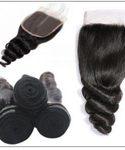 3 Bundles Premium Virgin Hair Loose Wave With Lace Closure img 4-min