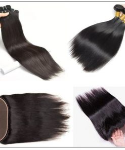3 Bundles Straight Human Virgin Hair With 360 Lace Frontal img 3-min