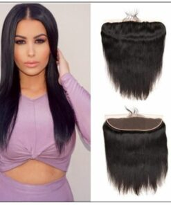 3 Bundles Straight Human Virgin Hair With 360 Lace Frontal img-min