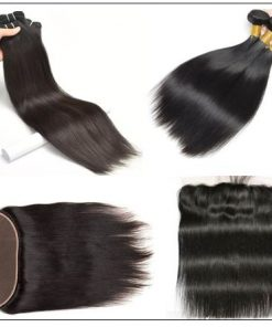 3 Bundles Straight Virgin Hair With Lace Frontal img 3-min