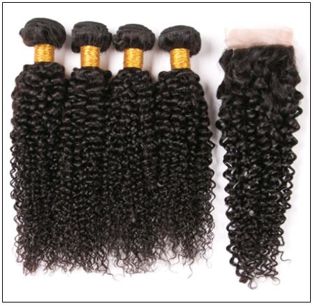 3 Bundles Virgin Hair Kinky Curly With 4×4 Inch Lace Closure IMG 2-min