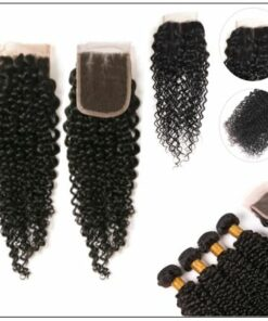 3 Bundles Virgin Hair Kinky Curly With 4×4 Inch Lace Closure IMG 3-min