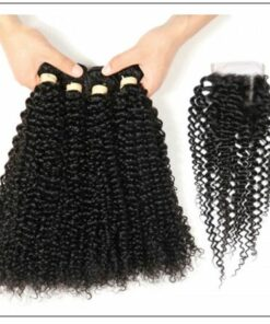 3 Bundles Virgin Hair Kinky Curly With 4×4 Inch Lace Closure IMG 4-min