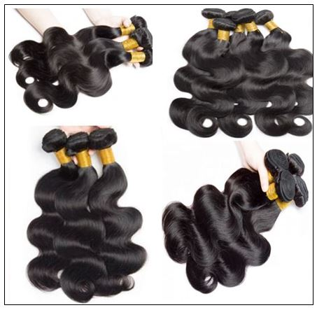 3 Pcs Body Wave Virgin + Human Hair With Lace Closure img 2-min