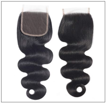 3 Pcs Body Wave Virgin + Human Hair With Lace Closure img 3-min