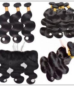 3 bundles body wave virgin hair with 360 frontal img 2