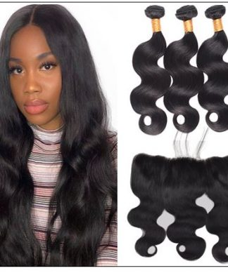 3 bundles body wave virgin hair with 360 frontal img