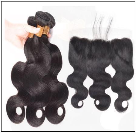 3 bundles body wave virgin hair with 360 frontal img 4