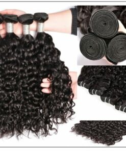 3 bundles brazilian water wave virgin human hair with lace closure img 2-min