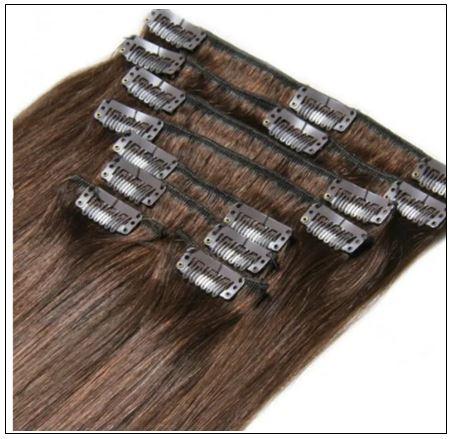 #4 Medium Brown Hair Extensions Clip In Hair img 2-min