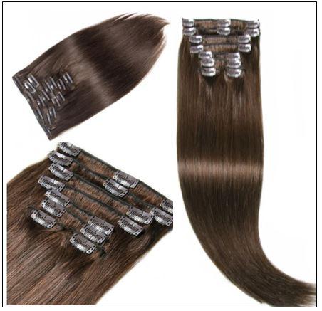#4 Medium Brown Hair Extensions Clip In Hair img 3-min
