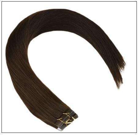 #4 dark brown Straight tape in hair extension 100%virgin hair img 2-min