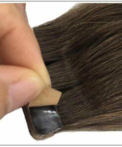 #4 dark brown Straight tape in hair extension 100%virgin hair img 4-min
