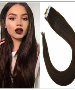 #4 dark brown Straight tape in hair extension 100%virgin hair img-min