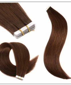 #4 medium brown Straight tape in hair extension 100%virgin hair img 2-min