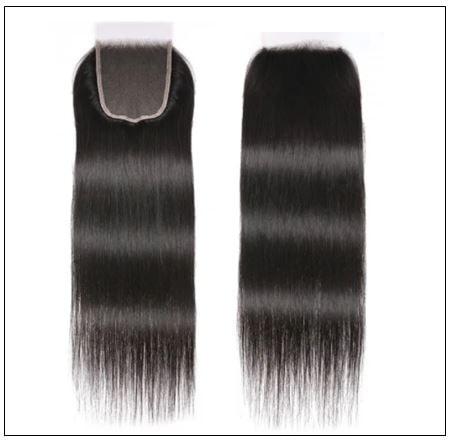 5x5 HD Lace Closure Straight Hair Deep Parting Transparent Lace Closure Invisible Knots Natural Virgin hair img 3-min