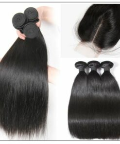 5x5 HD Lace Closure Straight Hair Deep Parting Transparent Lace Closure Invisible Knots Natural Virgin hair img 4-min