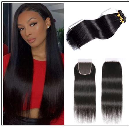 5x5 HD Lace Closure Straight Hair Deep Parting Transparent Lace Closure Invisible Knots Natural Virgin hair img-min
