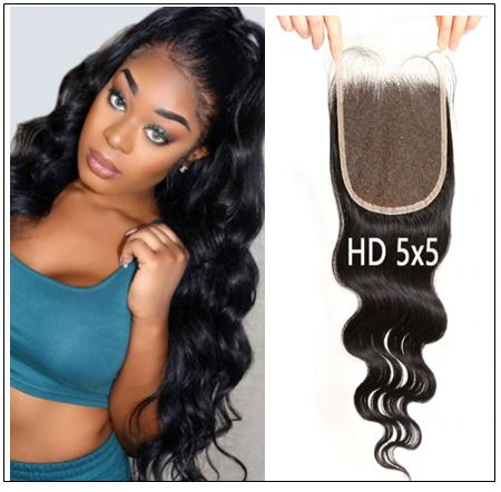 5x5 HD Lace Closure with Bundles Invisible Knots Body Wave Hair Weaves With Transparent Lace Closure Human Hair img-min