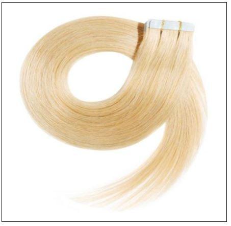 #613 lightest blonde Straight tape in hair extension 100% virgin hair img 4-min