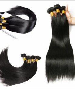 Brazilian Straight Virgin Hair 3 Bundles With Lace Closure img 3-min