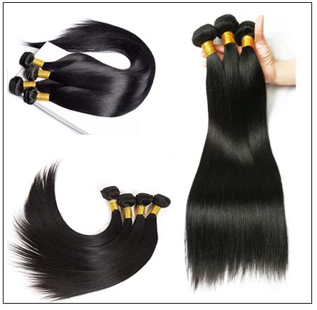 Brazilian Straight Virgin Hair 3 Bundles With Lace Closure img 3-min