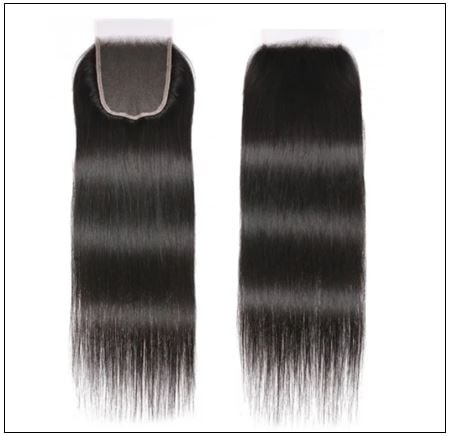 Brazilian Straight Virgin Hair 3 Bundles With Lace Closure img 4-min