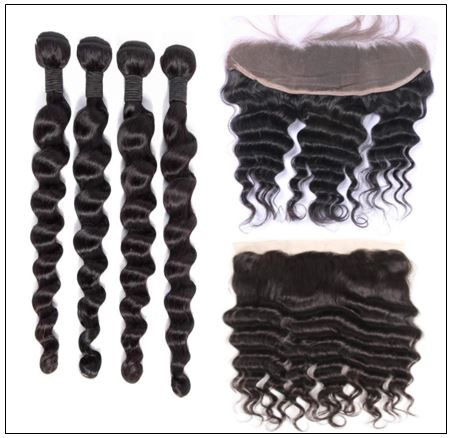 Bundles Loose Deep Wave Human Hair With 13x4 Frontal img 2-min