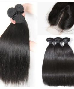 Bundles Straight Human Hair With Lace Frontal img 3-min