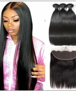 Bundles Straight Human Hair With Lace Frontal img-min