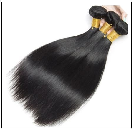 High-quality lace closure with straight hair 3 bundles img 3-min-1