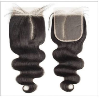Indian body wave hair weft with closure img 2