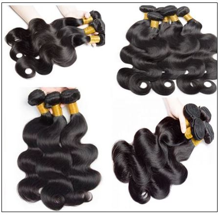 Indian body wave hair weft with closure img 4