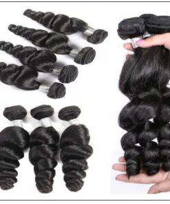 Malaysian Good Quality 3pcs Loose Wave Hair With Lace Closure img 2-min