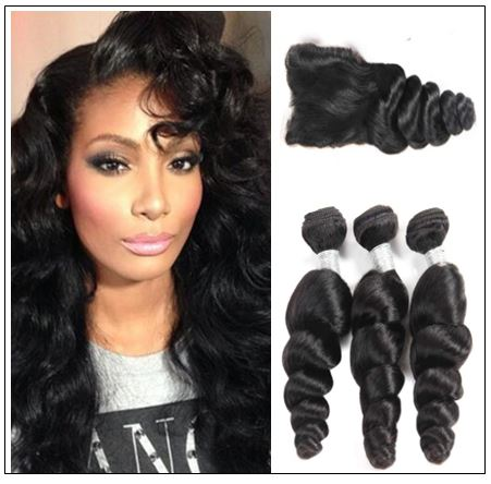 Malaysian Good Quality 3pcs Loose Wave Hair With Lace Closure img-min