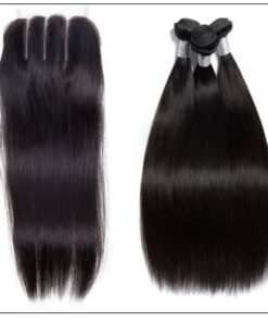 Malaysian straight virgin hair with 3 part lace closure img 4-min