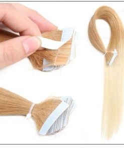 Ombre Straight Tape In Hair Extensions T27-613 100% Virgin Hair IMG 3-min