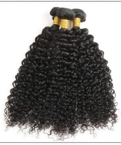 Peruvian Jerry Curly Hair 3 Bundles With Lace Closure img 3-min